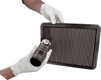 Panel Air Filter Squeeze Bottle Oiling