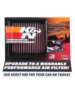 87-5038 K&N Display; Small Air Filter