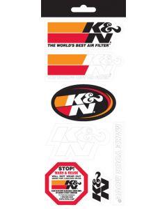 89-11831 K&N Decal/Sticker Sheet