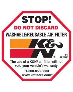 89-16063-1 K&N Decal/Sticker Do Not Discard