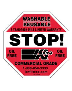 89-16064 K&N Decal/Sticker Stop