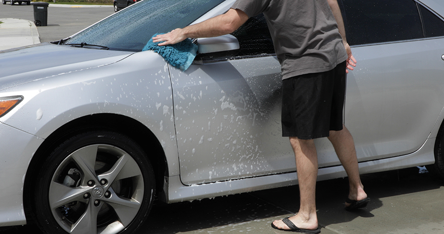 Washing your car can help preserve the paint