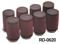 "K&N Air Filter for ""Early Type"" Fuel Injectors (Single Stacks) for Chevrolet"