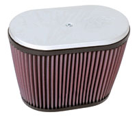 "K&N Dual Oval Air Filter for ""Late Type"" Hilborn and Other Injectors for V.W. Air-cooled Engines"